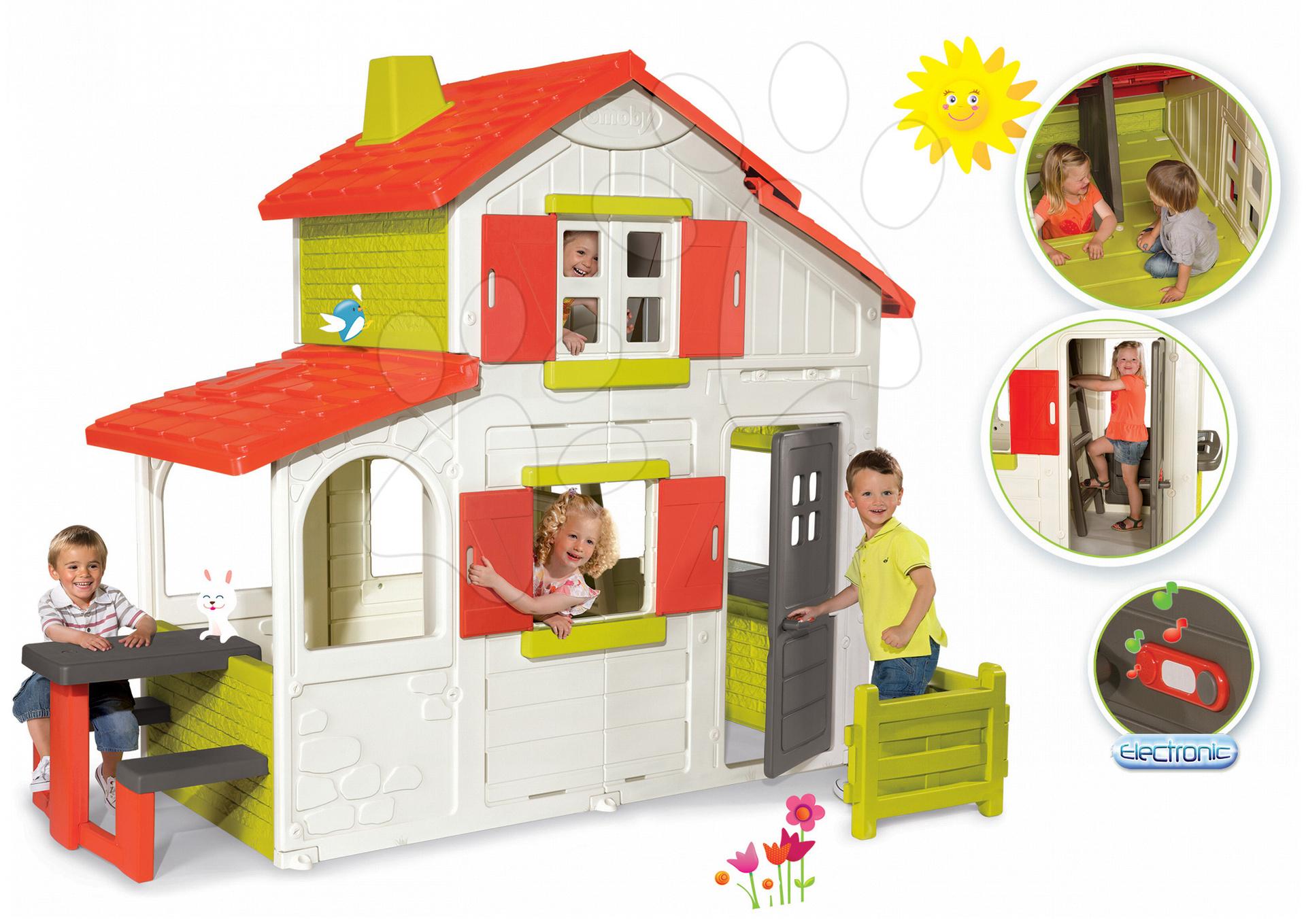 dom ek pre deti smoby maison duplex. Black Bedroom Furniture Sets. Home Design Ideas