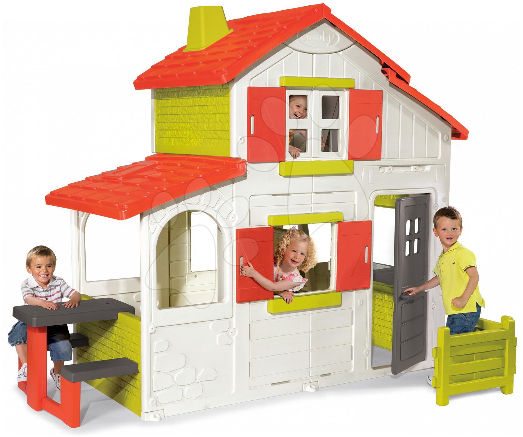 Domčeky pre deti - Domček Maison Duplex Smoby dvojposchodový s kuchynkou