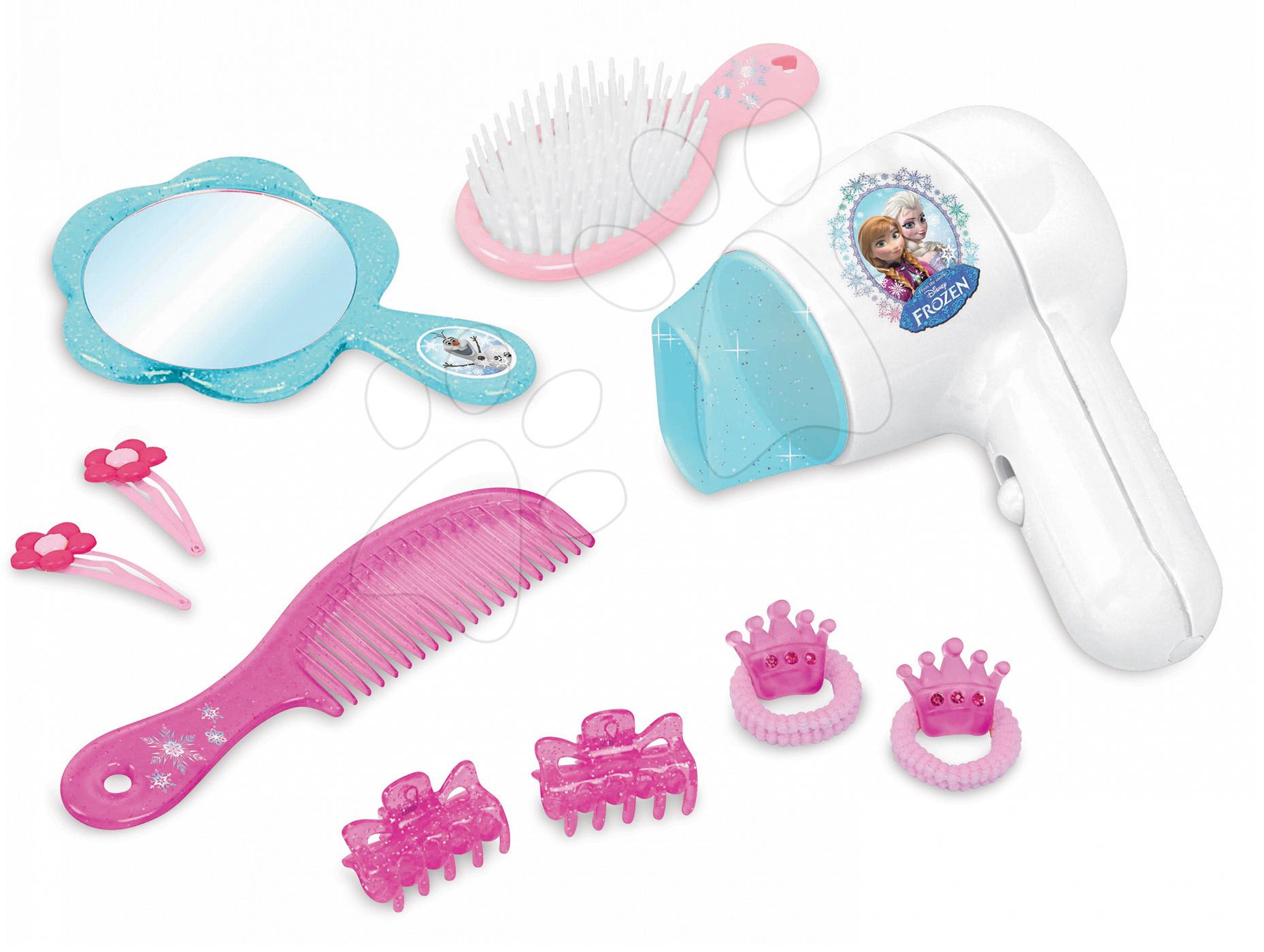 Kozmetický stolík pre deti - Kadernícka sada Frozen Smoby so sušičom na vlasy a bižutériou