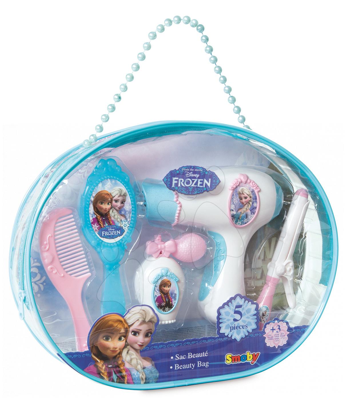 Kozmetický stolík pre deti - Kozmetická taška Frozen Smoby s potrebami na česanie