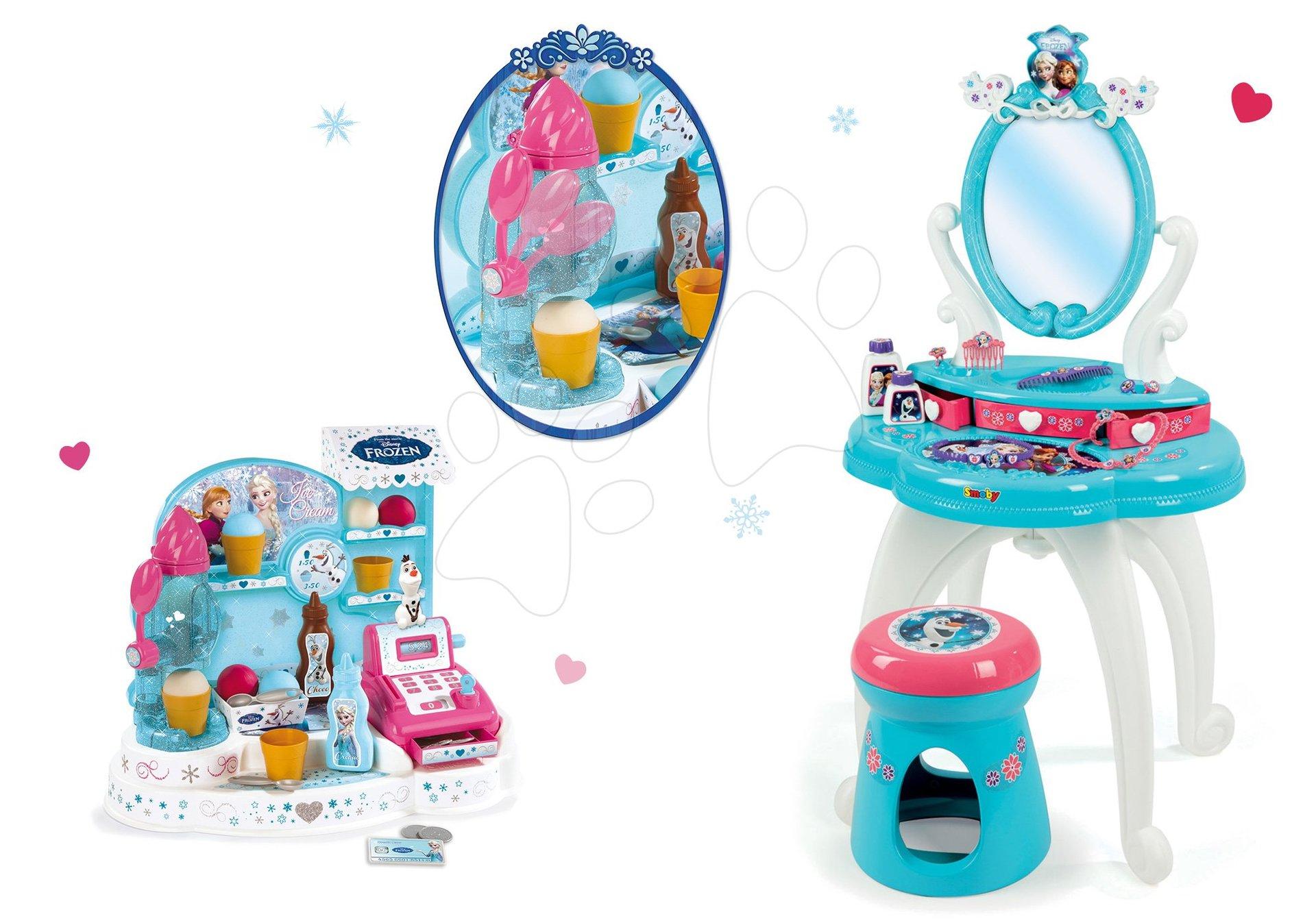 5fc6368a40a3 Szett pipere asztal Frozen Smoby székkel és fagylaltozó Frozen