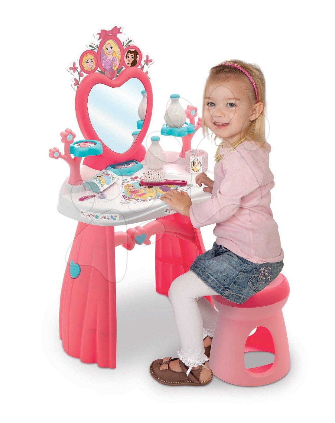 Kosmetický stolek Princezny Smoby s židlí a 10 doplňky