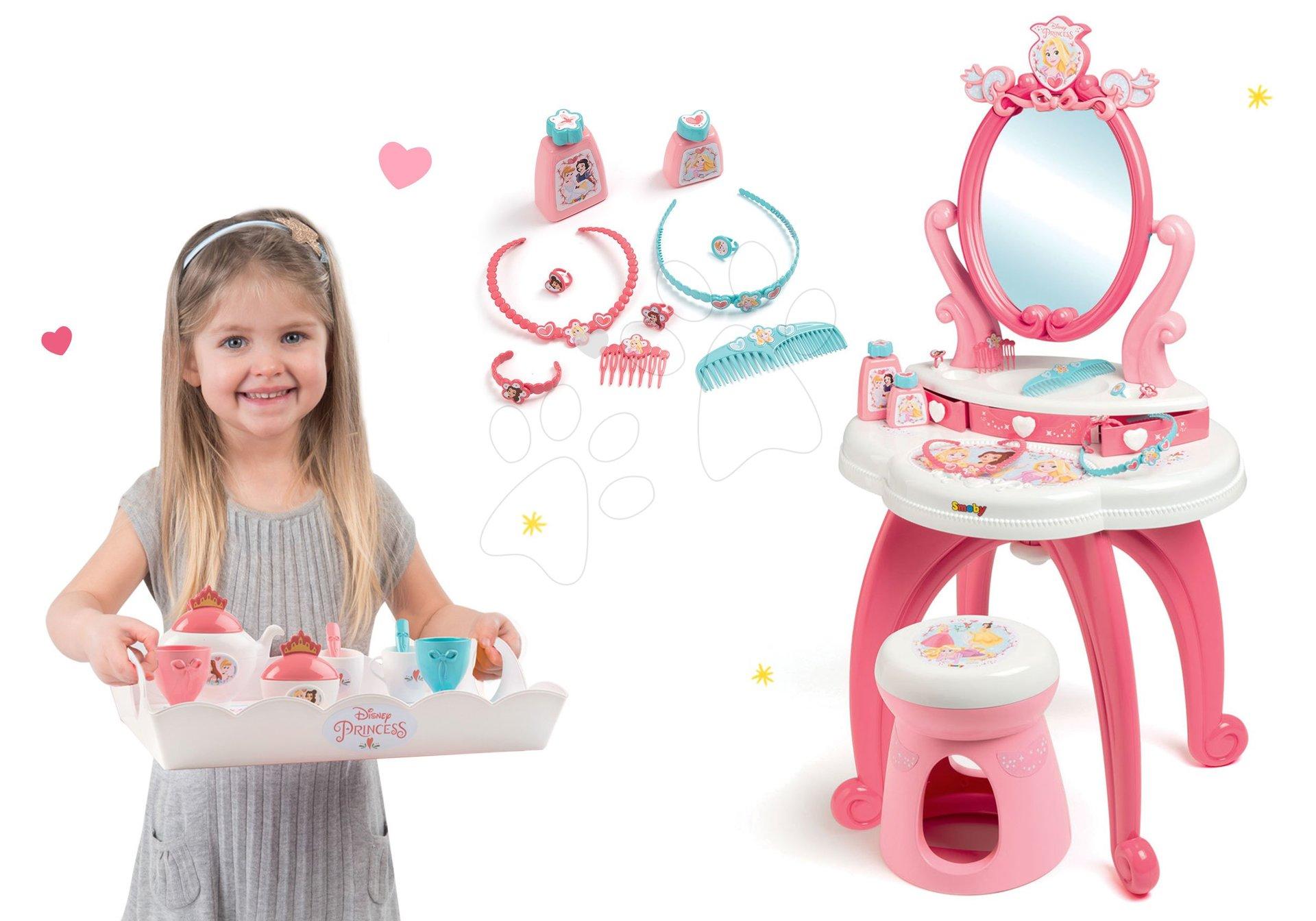 Set kozmetický stolík 2v1 Princezné Smoby a servírovacia tácka