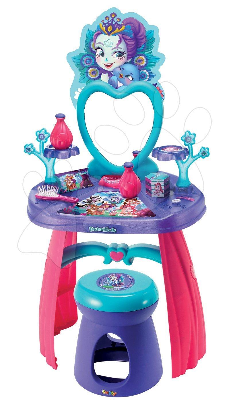 Kosmetický stolek pro děti - Kosmetický stolek Enchantimals Smoby se židlí a 10 doplňky