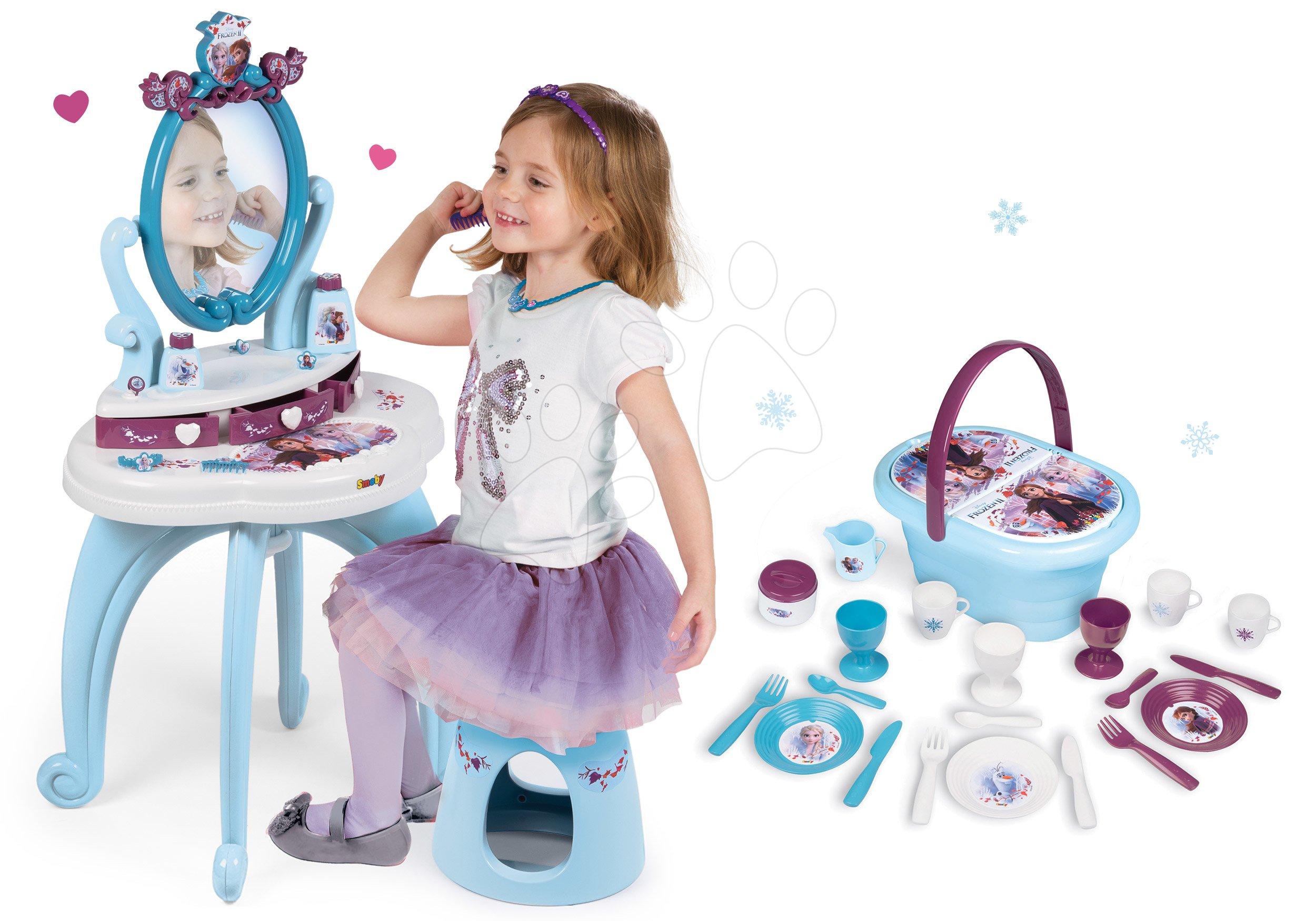 Smoby detský kozmetický stolík a piknikový košík Frozen 320214-13