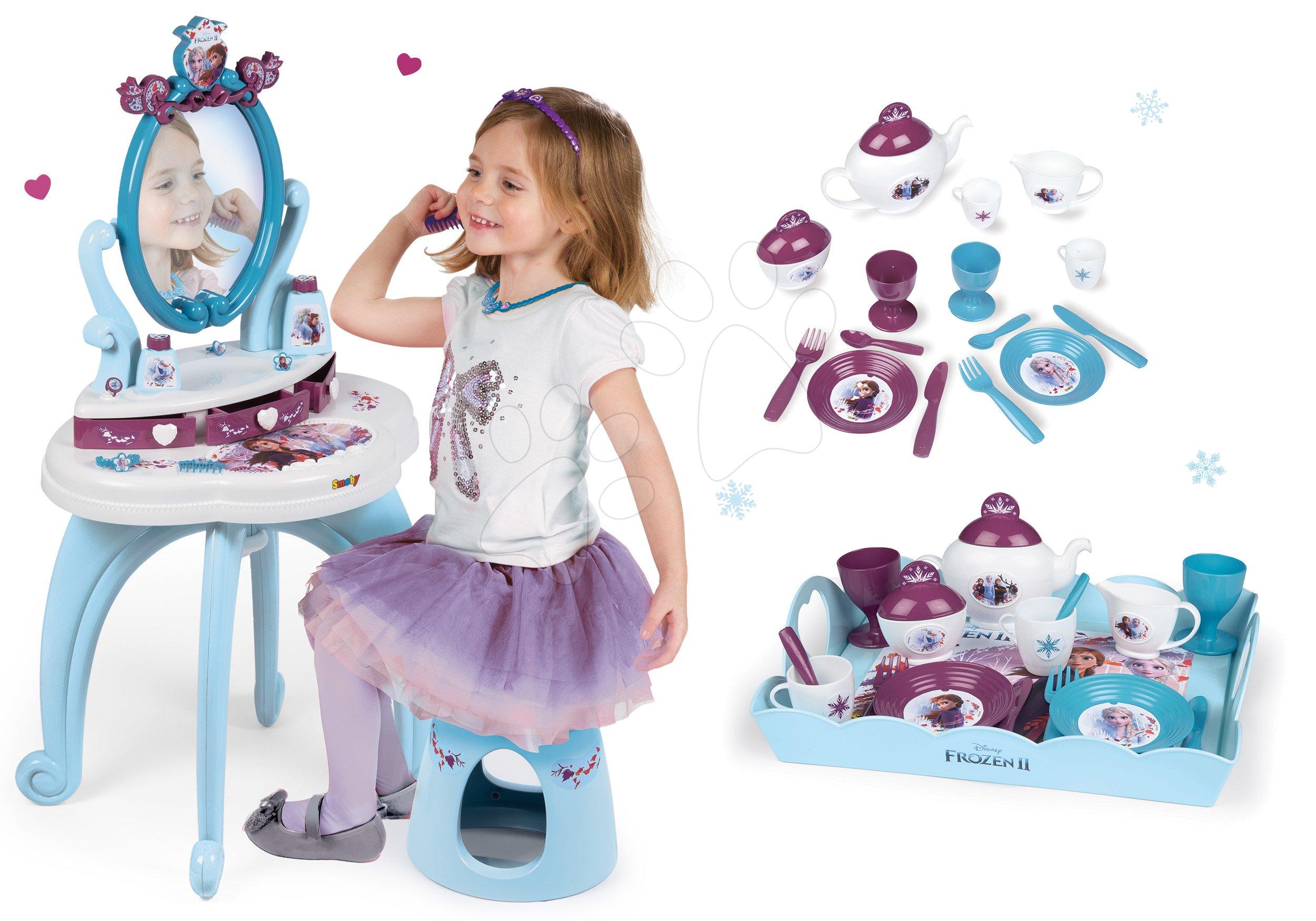 Smoby detský kozmetický stolík a čajová sada Frozen 320214-5