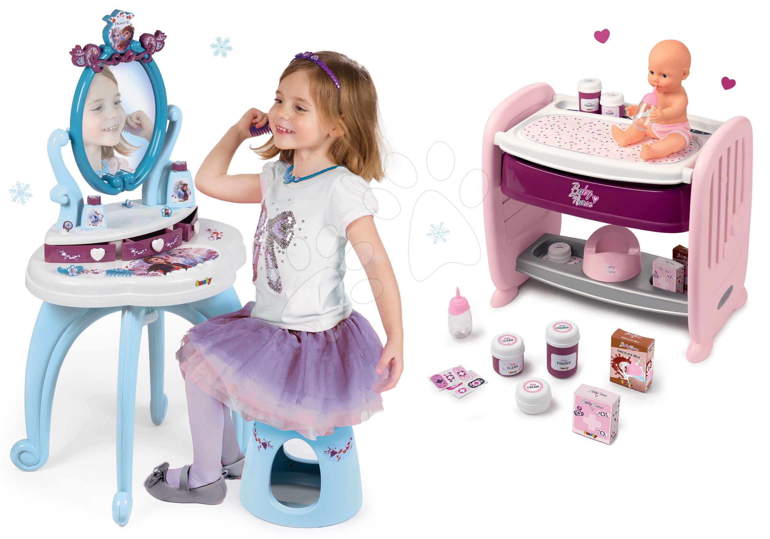 Smoby detský kozmetický stolík a nákupná taška Frozen 320214-8