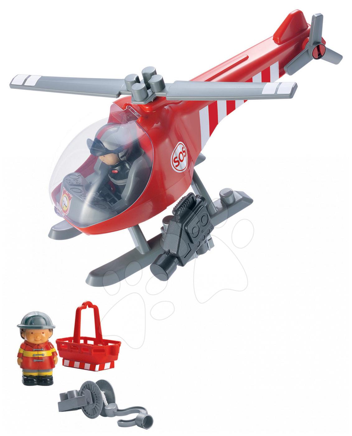 Cuburi de construit Abrick - Joc de construit Abrick - elicopter de salvare Écoiffier de la 18 luni