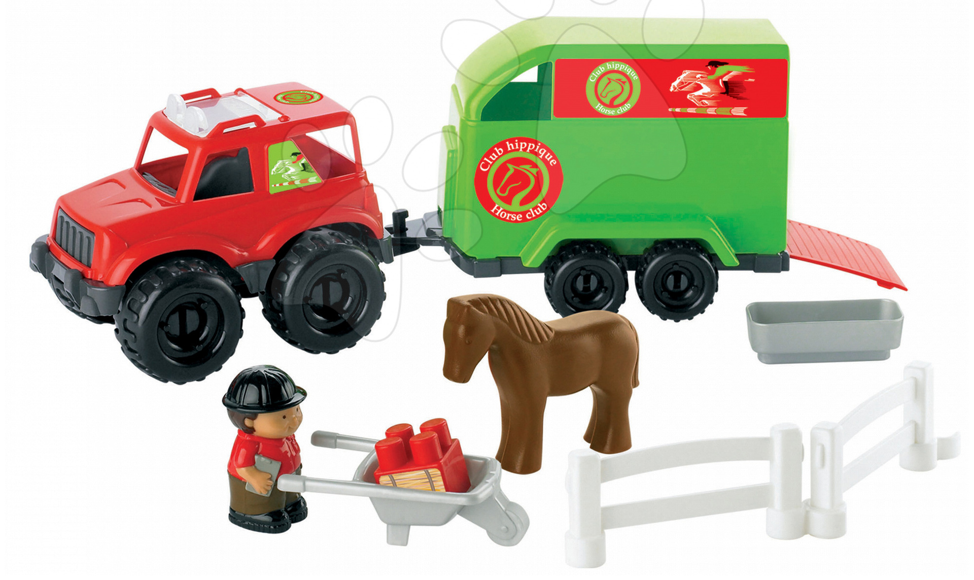 Stavebnice Abrick - auto s karavanem pro koníka Écoiffier 21 dílů od 18 měsíců