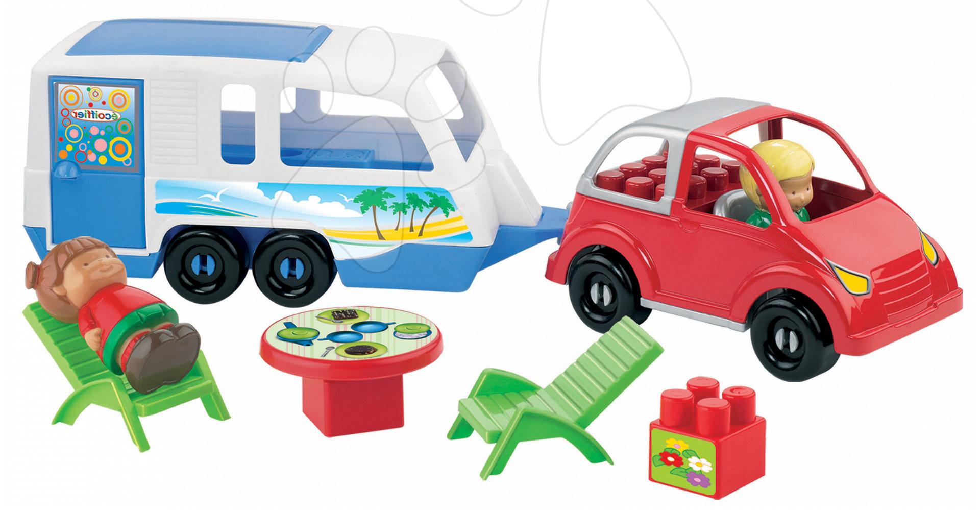 Stavebnice Abrick - Stavebnice Auto s karavanem Abrick Écoiffier 23 dílů od 18 měsíců