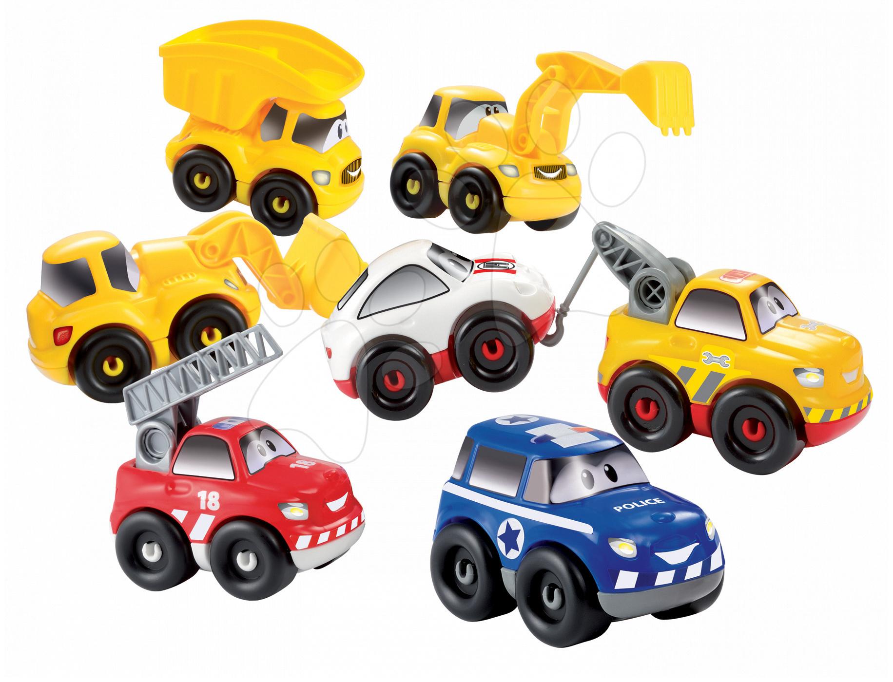 Stavebnice Rychlá auta Abrick Écoiffier 7 různých autíček 51 dílků od 18 měsíců