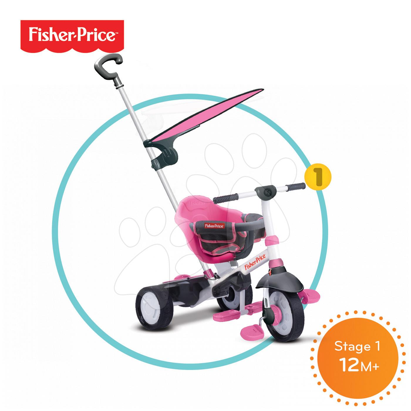 Tříkolka Fisher-Price Charm Plus Touch Steering smarTrike růžová od 12 měsíců