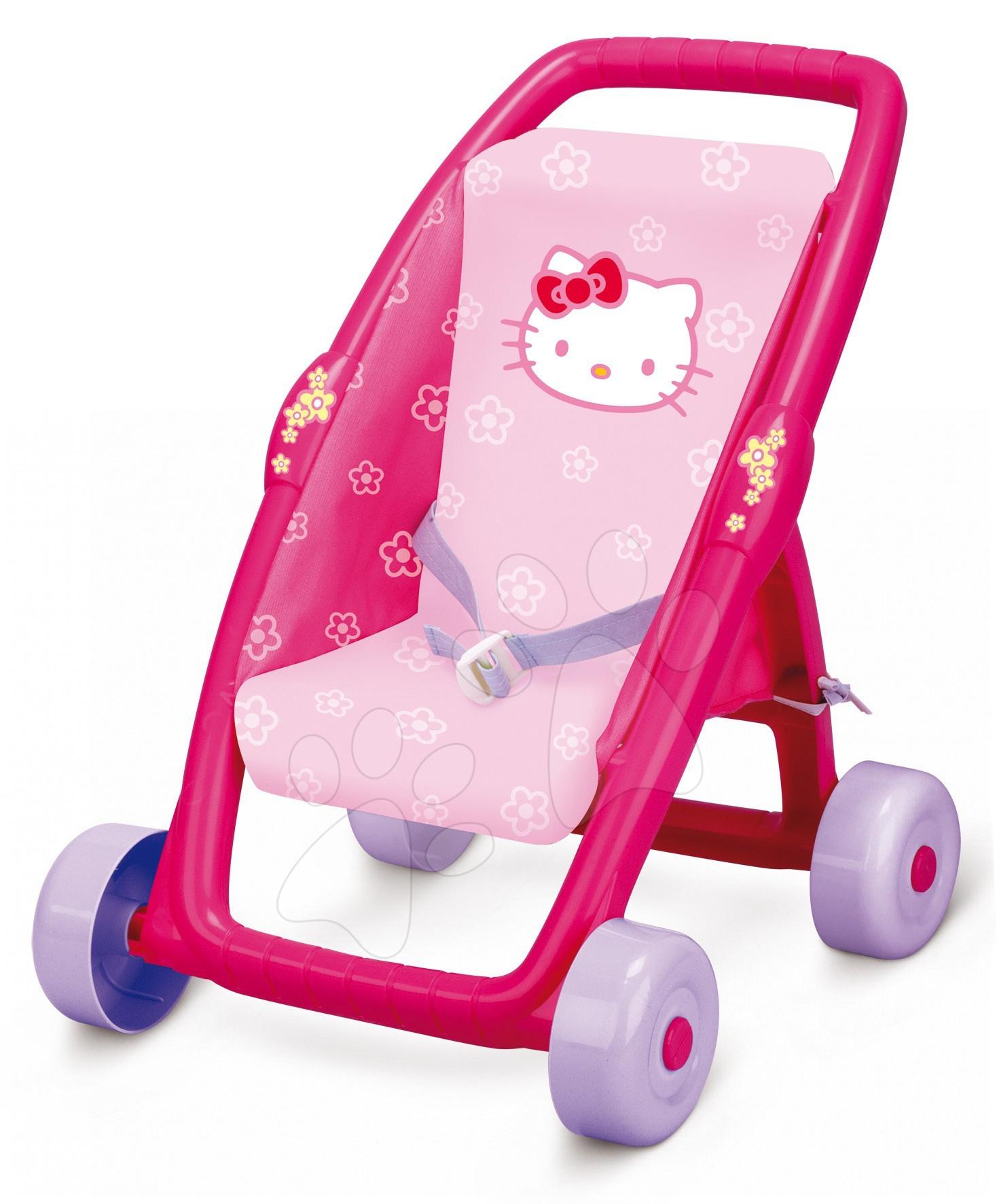 Cărucior Hello Kitty Ma premier buggy Smoby roz cu mâner de împins de 49 de cm 36*45*49 cm