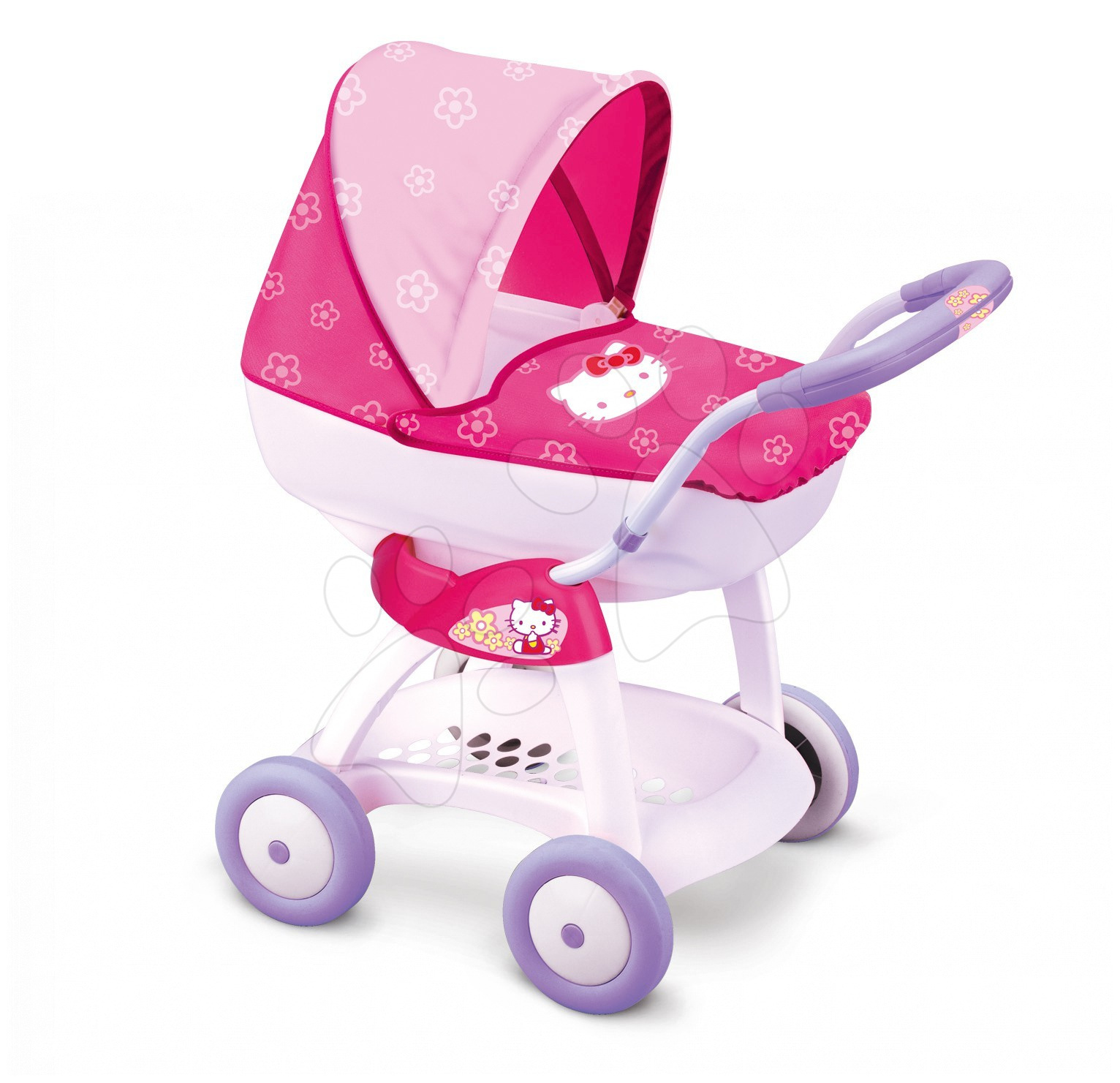 Cărucior Hello Kitty Chuli Pop car Smoby cu mâner de împins de 55 de cm  60*38*55 cm de la 18 luni