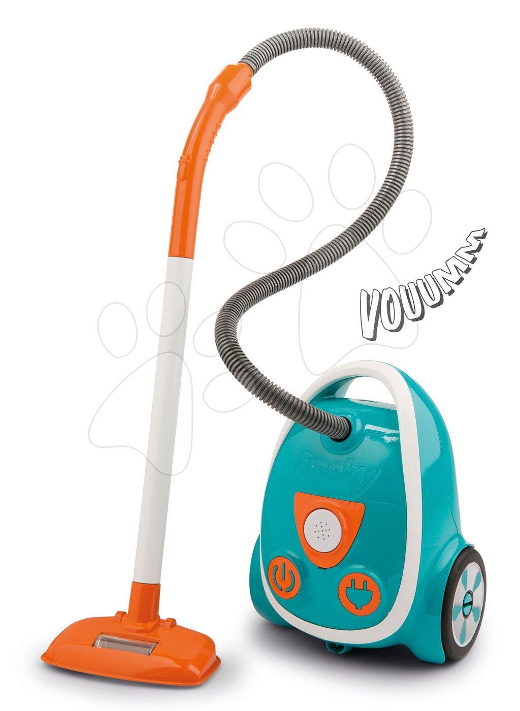 Vysávač so zvukom Vacuum Cleaner Smoby elektronický tyrkysový