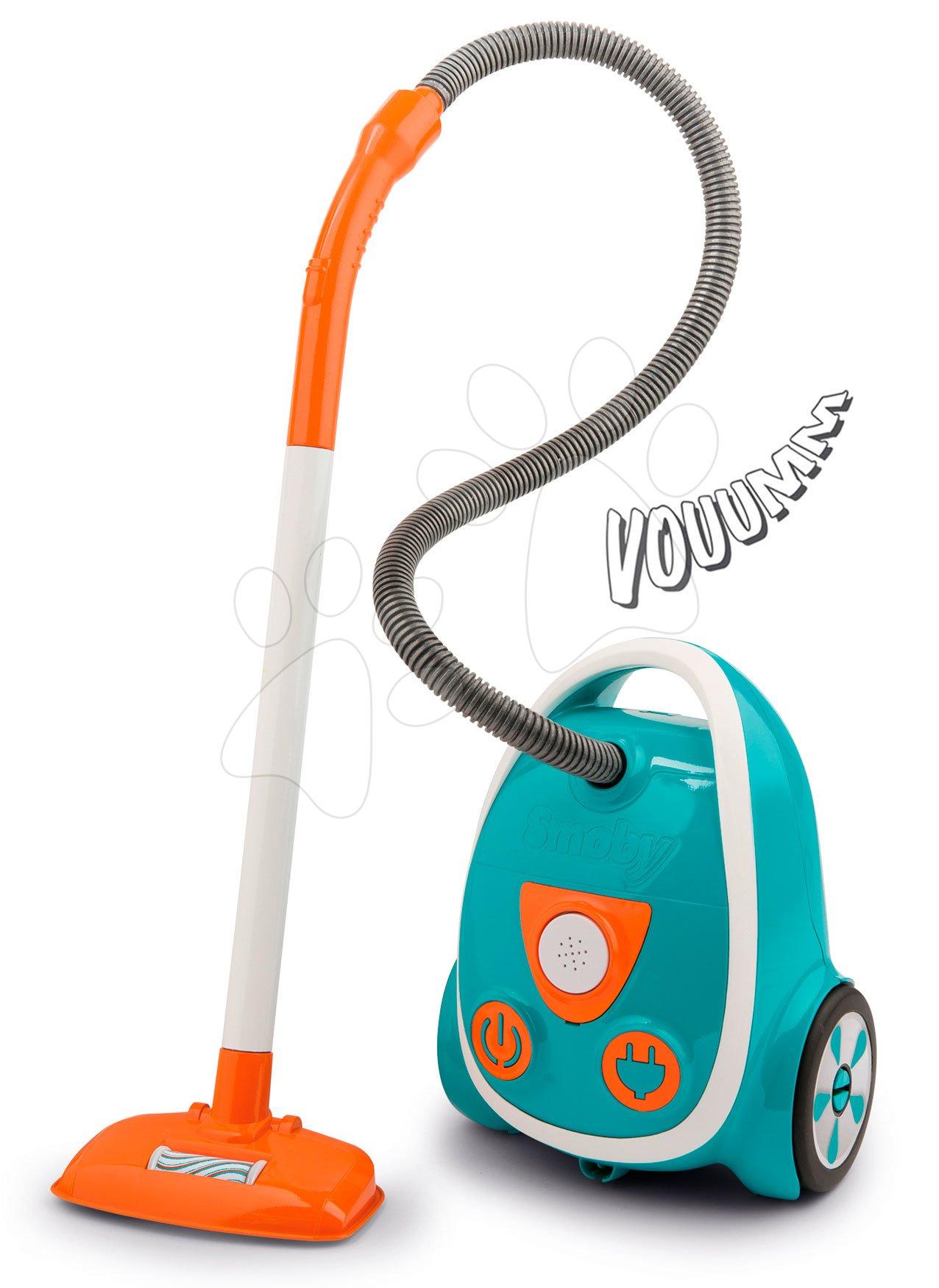 Vysávač elektronický Aqua Clean Vacuum Cleaner Blue Smoby s reálnym zvukom