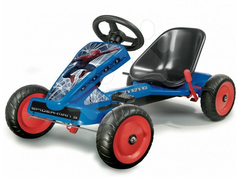 Go Kart - Štvorkolka autíčko Go Kart Spiderman III Smoby modrá