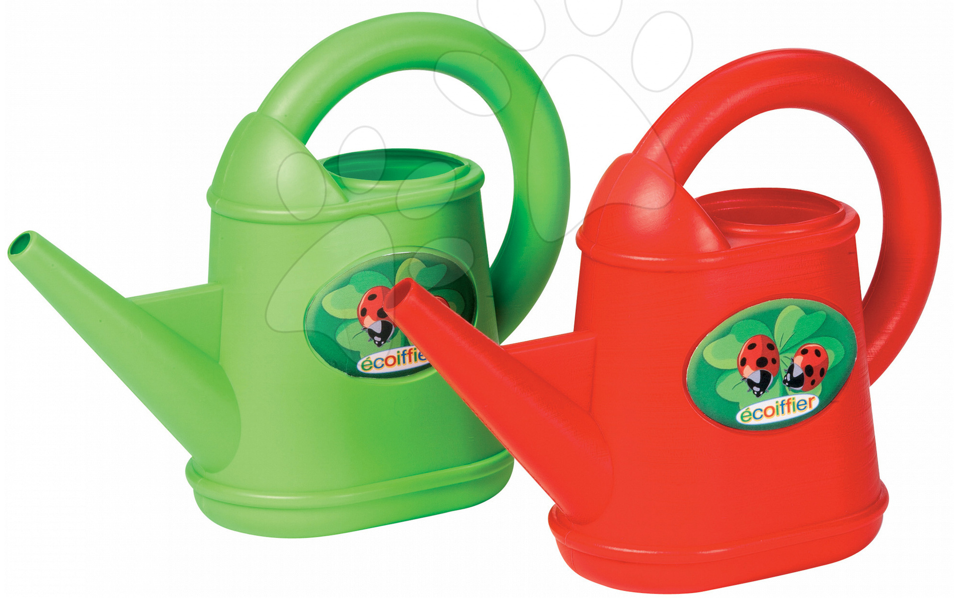 Konvičky - Konev s beruškou Picnic Écoiffier (objem 0,8 litru) zelená/červená od 18 měsíců