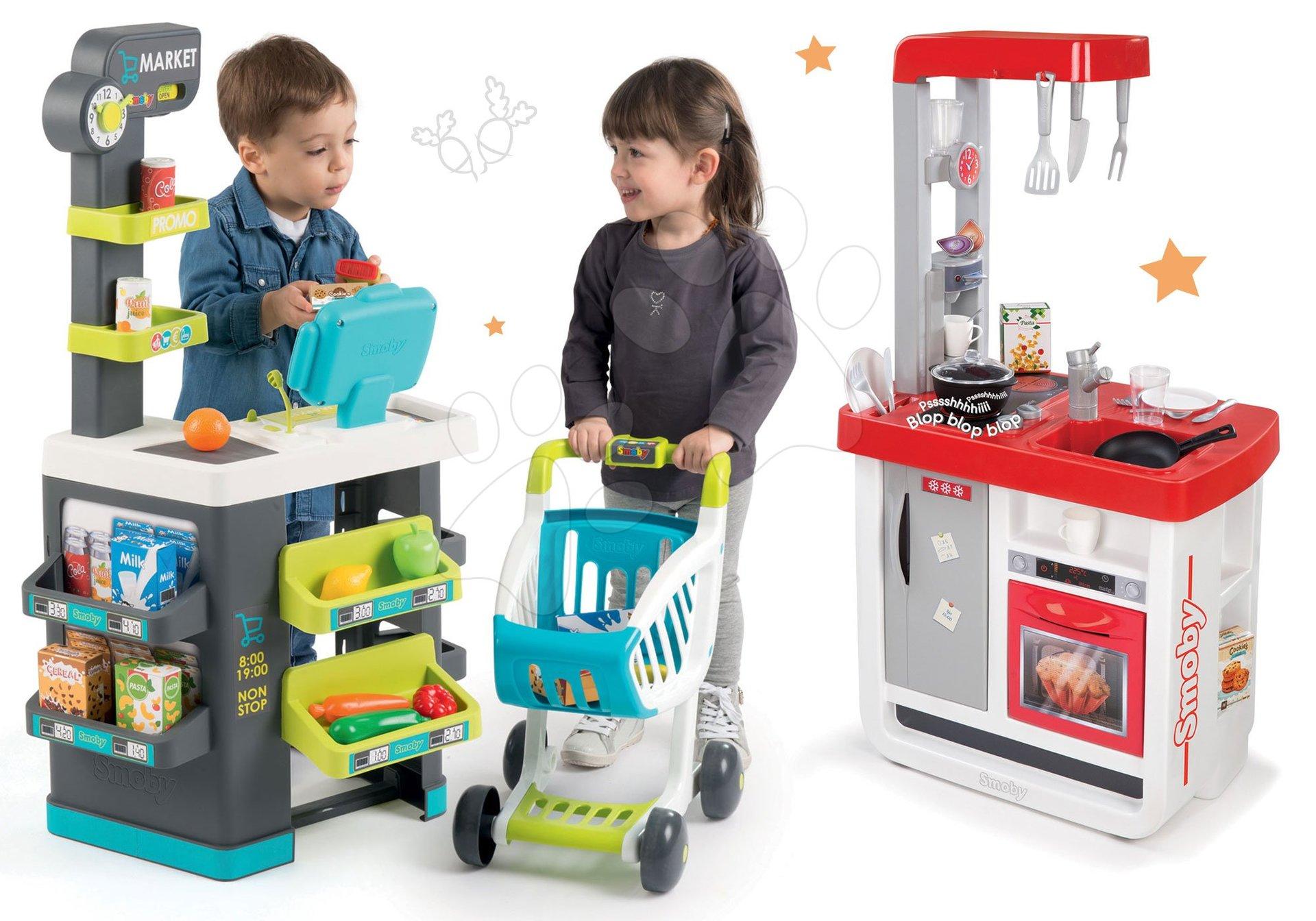 Smoby dětský obchod Supermarket a kuchyňka Bon Appétit 350212-17