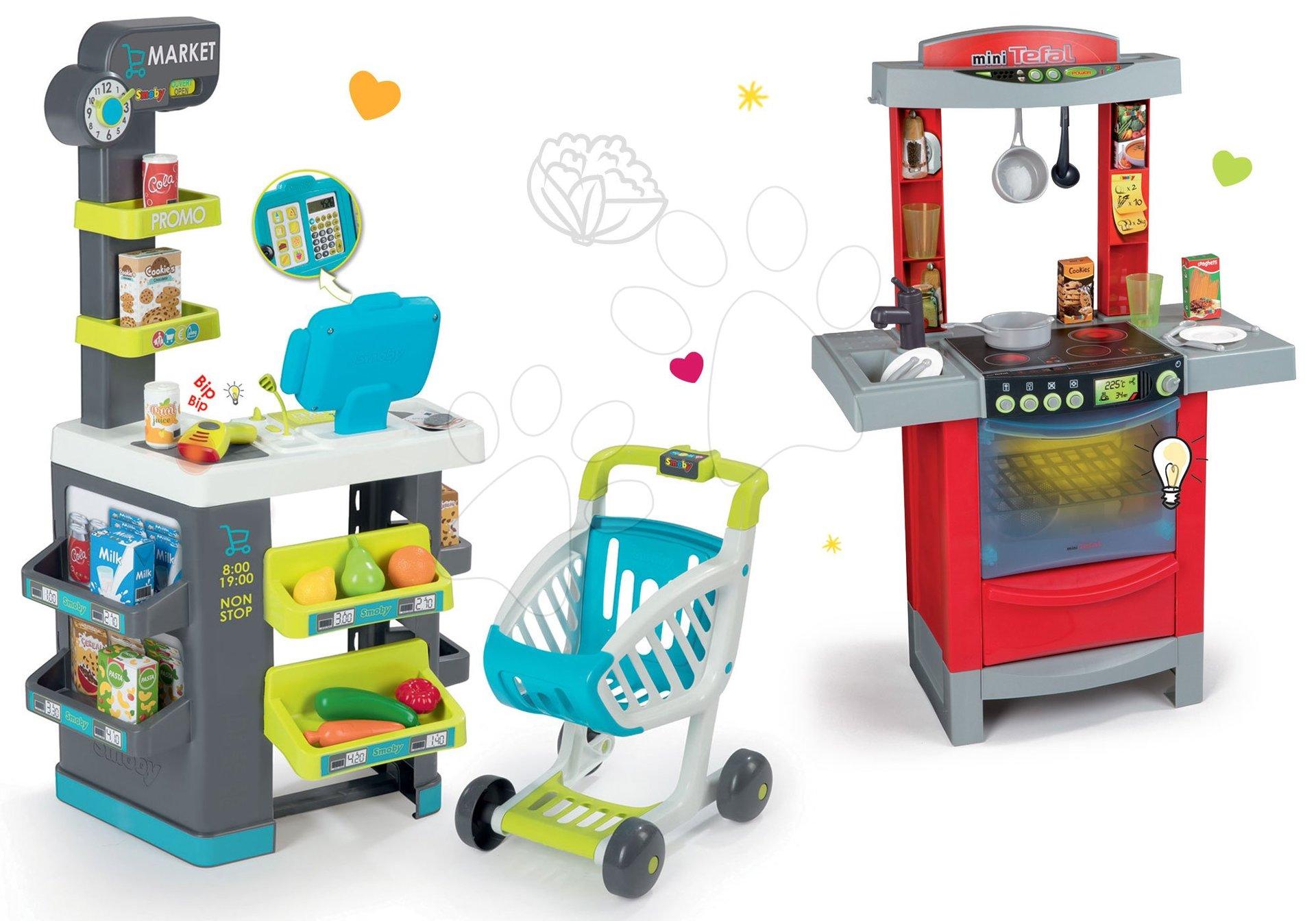 Smoby dětský obchod Supermarket a kuchyňka Cook'Tronic Tefal 350212-19