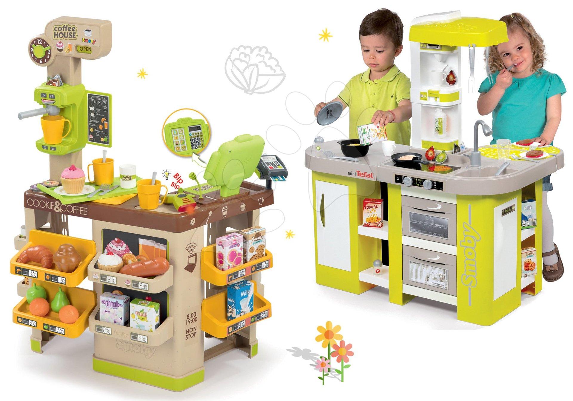 Smoby set kaviareň s Espresso kávovarom a elektronická kuchynka Tefal Studio XL 350214-4