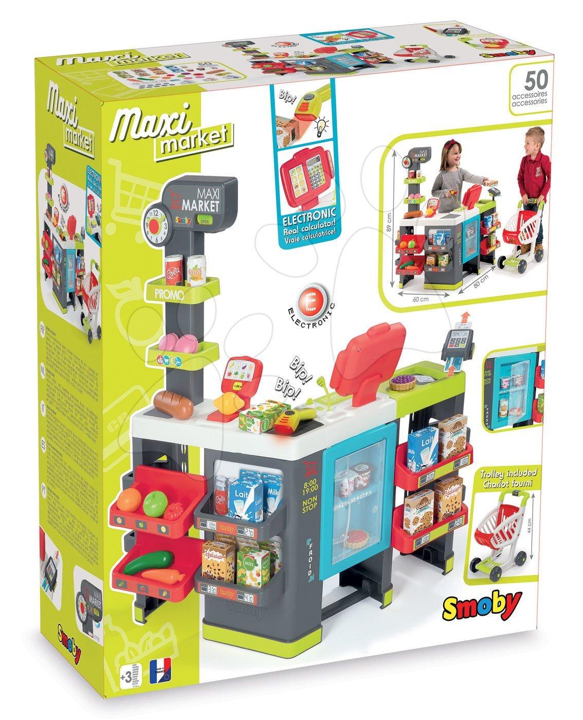 94938b0a9 SMOBY 350204-2 obchod City Shop s elektronickou pokladňou+ku