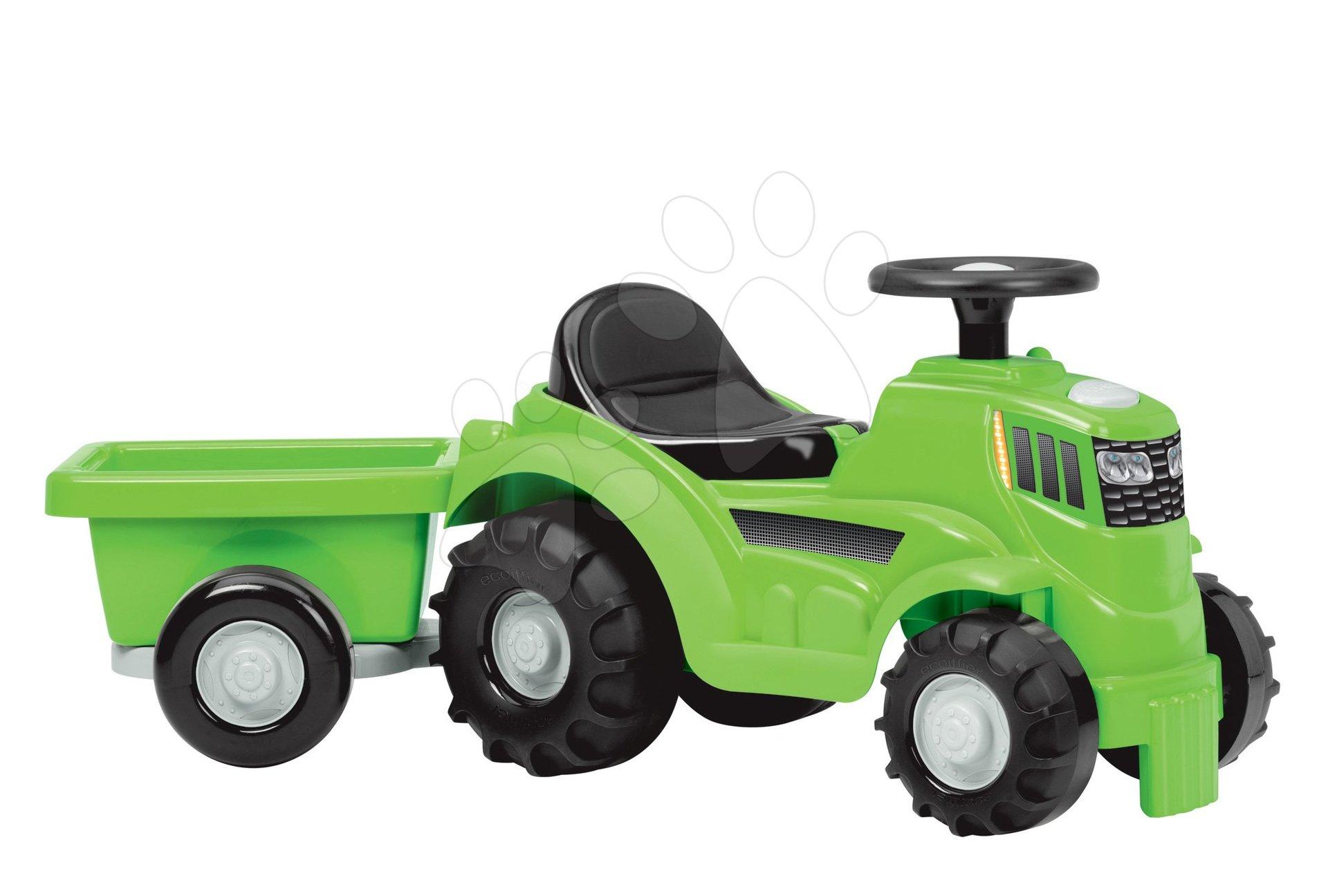 Odrážadlo traktor s prívesom Écoiffier zelený od 12 mesiacov
