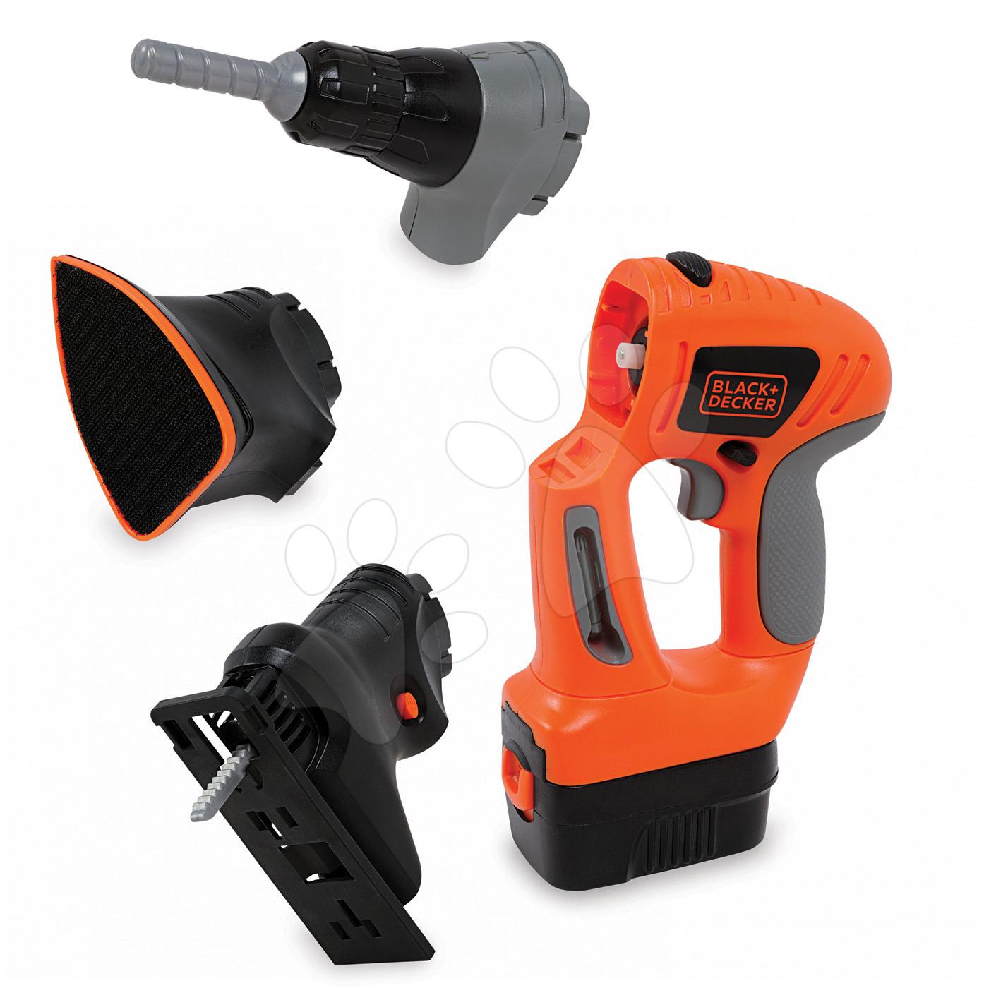 Náradie a nástroje - Pracovné náradie 3v1 Black+Decker Evo Smoby elektronické