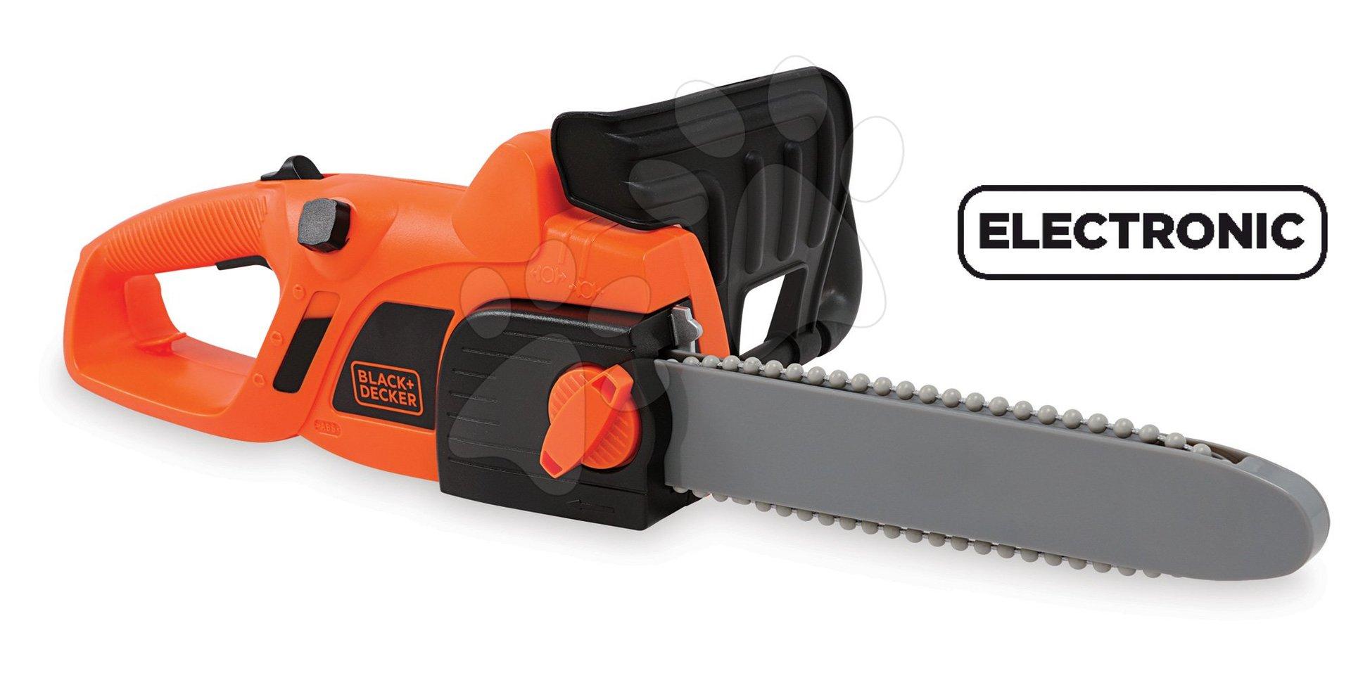 Smoby elektronická pila Black+Decker 360103 oranžová