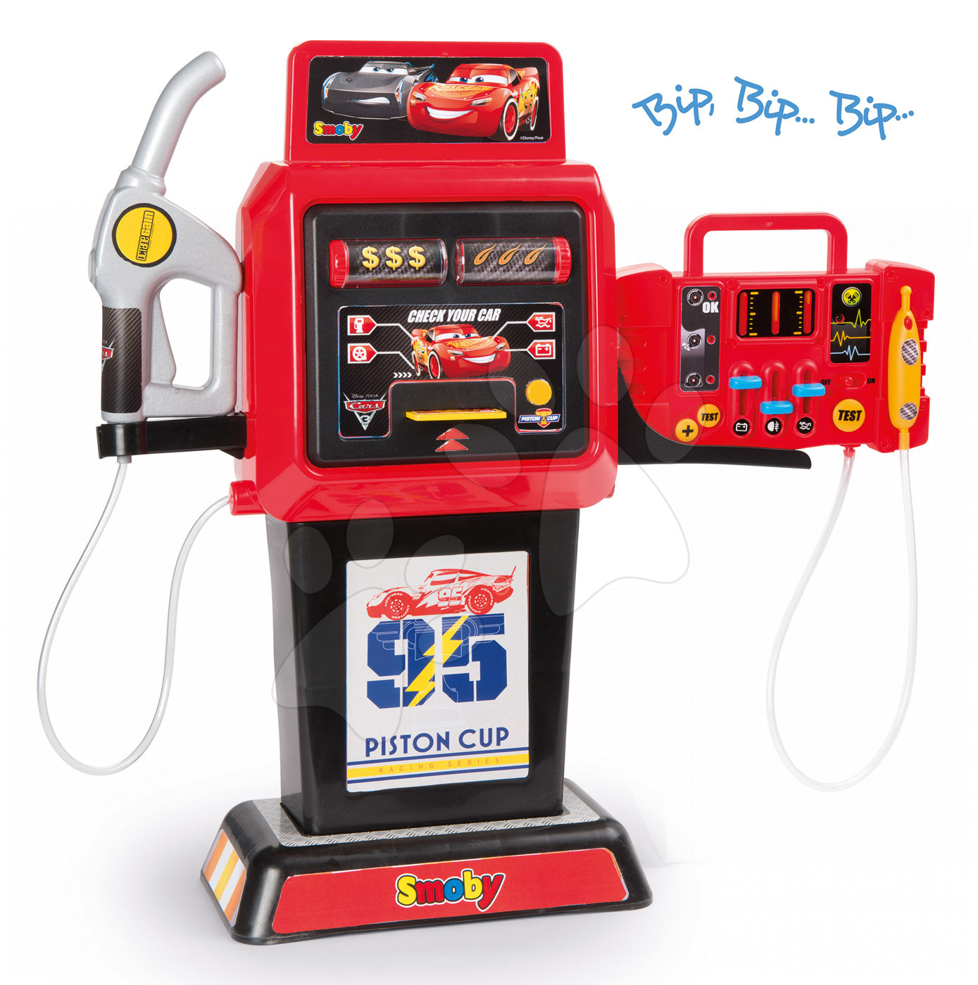 Benzinărie Cars 3 Smoby electronică cu sunete și lumină roșie
