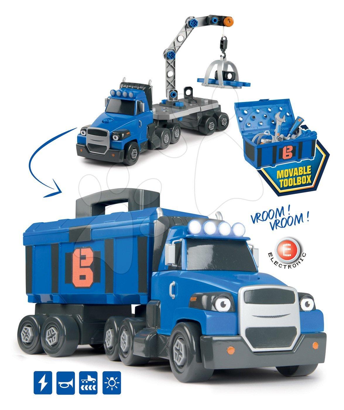 Kamión Bob Two Tons Truck Smoby so zvukom a svetlom a 60 doplnkami