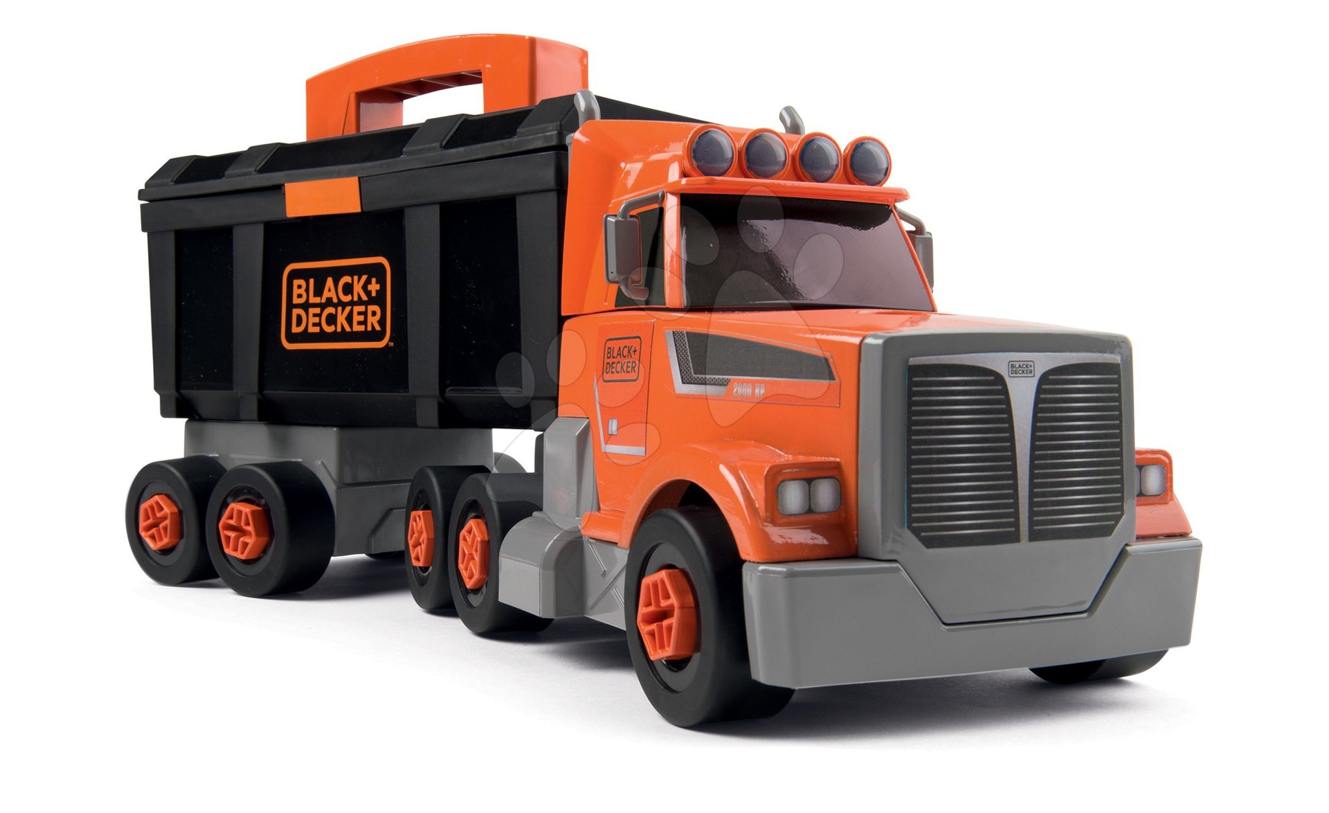Kamion szerszámos bőrönddel Black&Decker Truck Smoby és 60 kiegészítővel, szerszámokkal