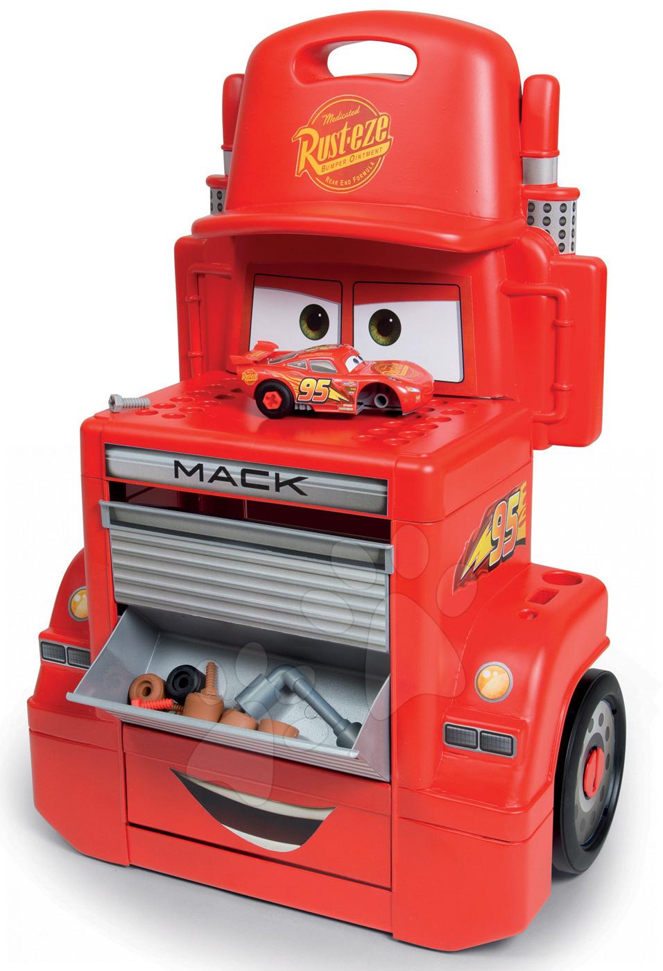 Pracovná dielňa vozík Autá Mack Truck Smoby 360208 červený