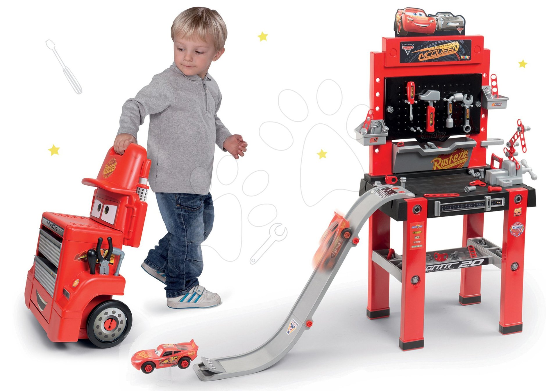 Smoby set pracovná dielňa vozík Smoby a pracovná dielňa so skákajúcou rampou 360208-3