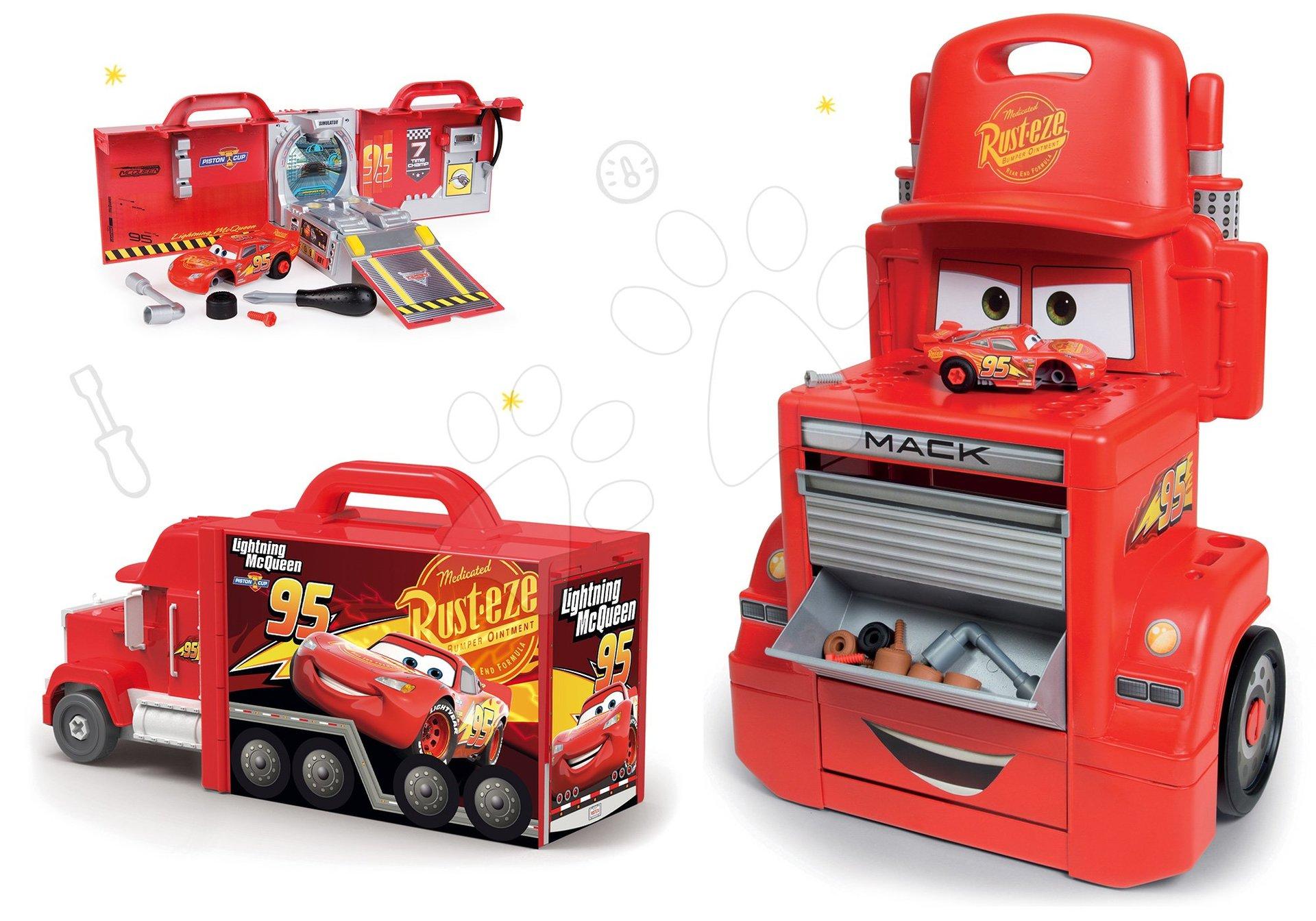 Smoby set pracovná dielňa vozík Smoby a kamión Mack Truck elektronický 360208-4