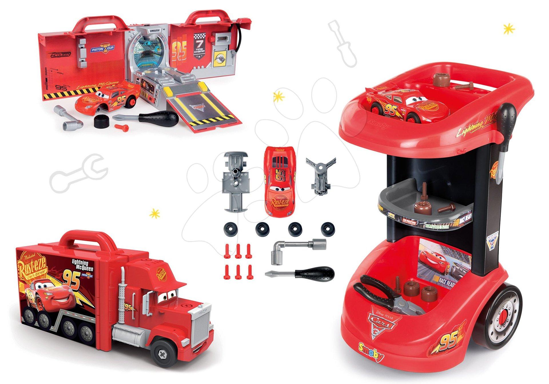 Smoby set pracovný stôl a kamión Mack Truck elektronický 360209-2