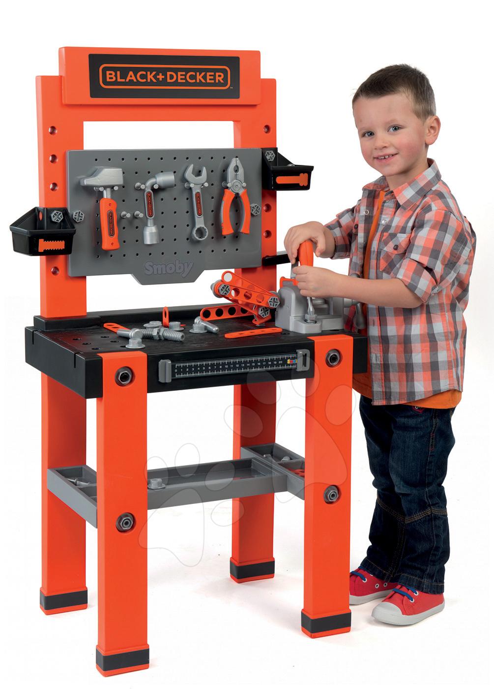 Smoby pracovná dielňa pre deti Black+Decker 360700 oranžová