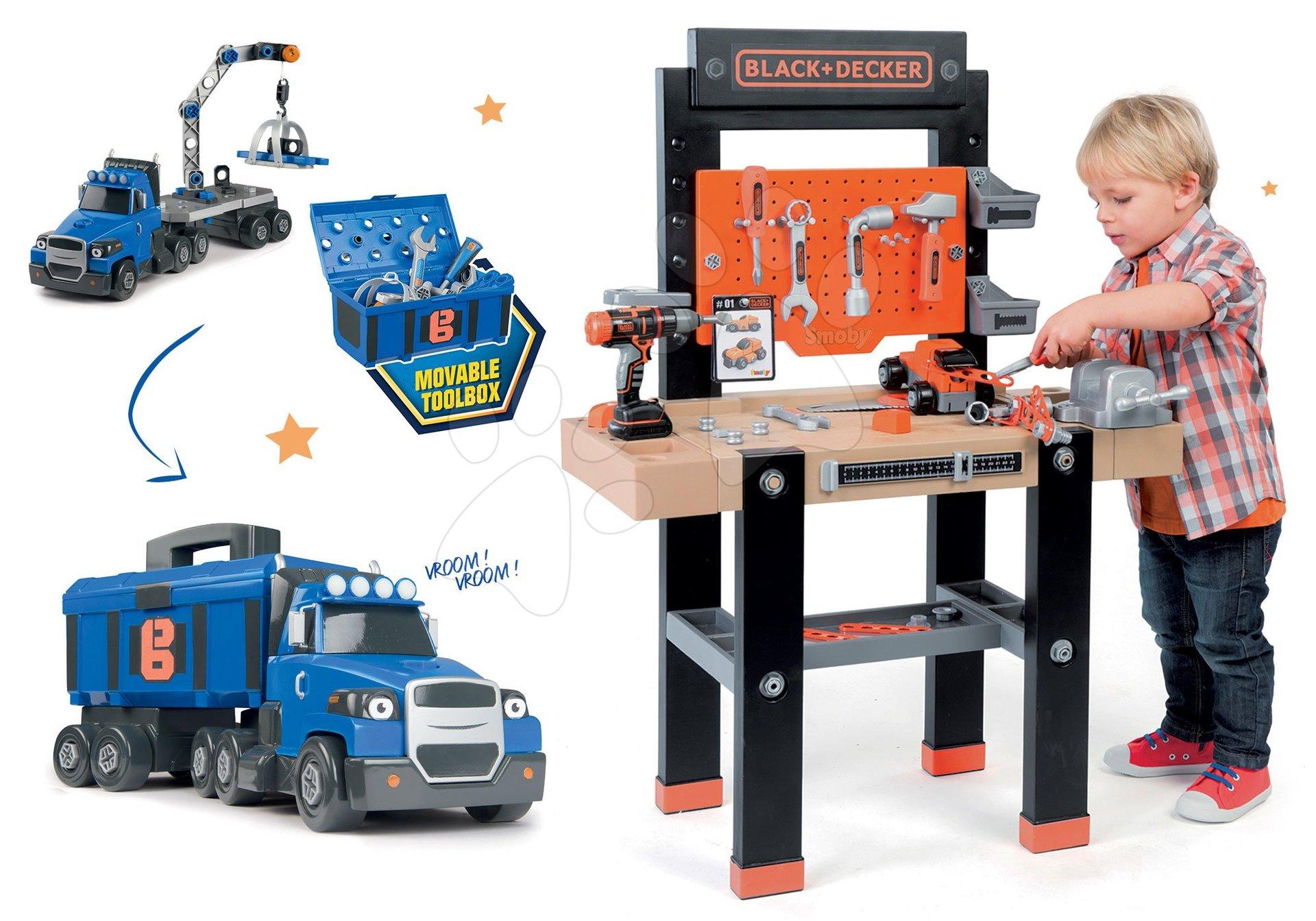 Smoby pracovní dílna pro děti Black+Decker a kamion Bořek Stavitel Two Tons Truck 360701-8