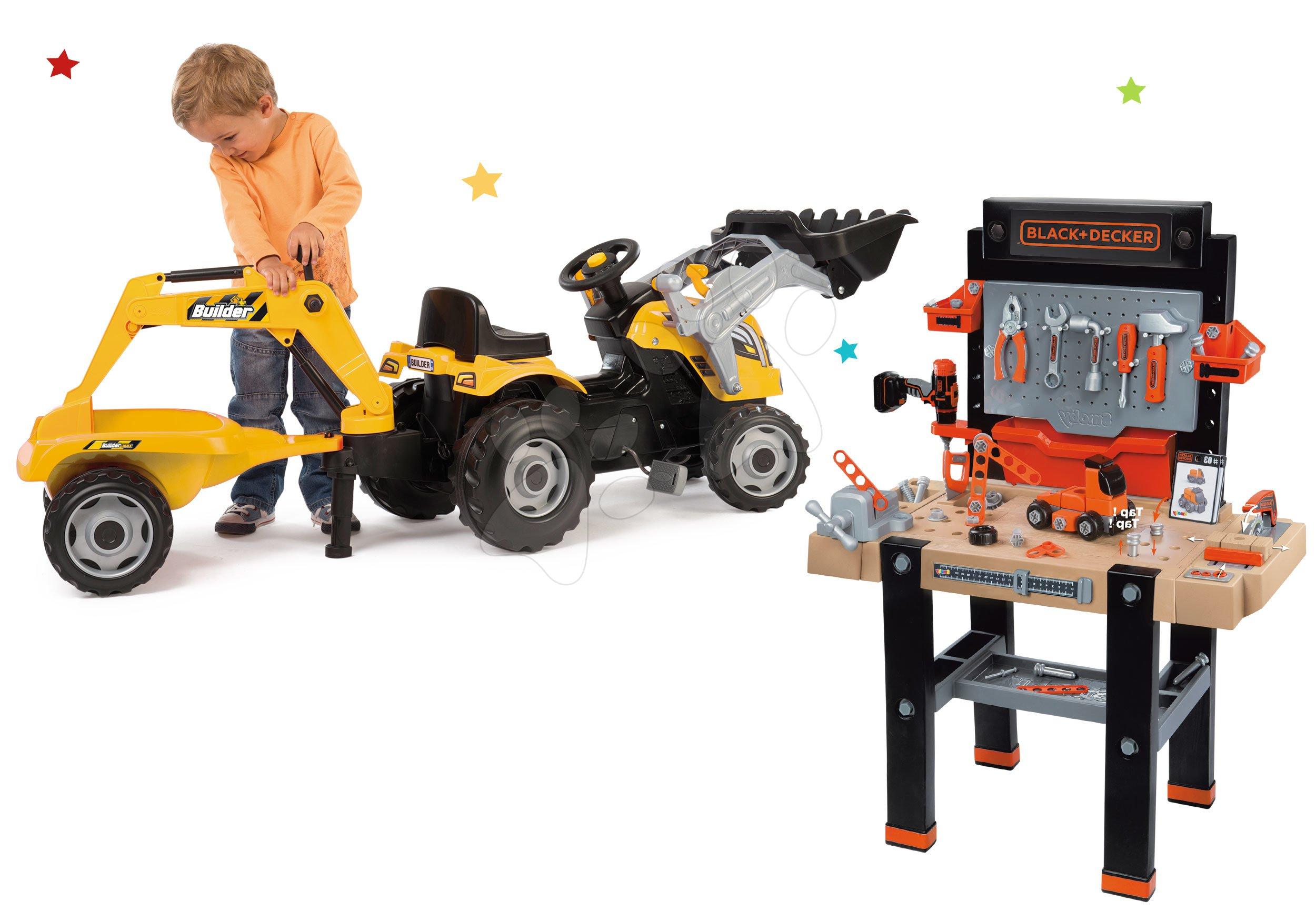 Smoby set dielňa Black+Decker a traktor Builder Max 360702-14