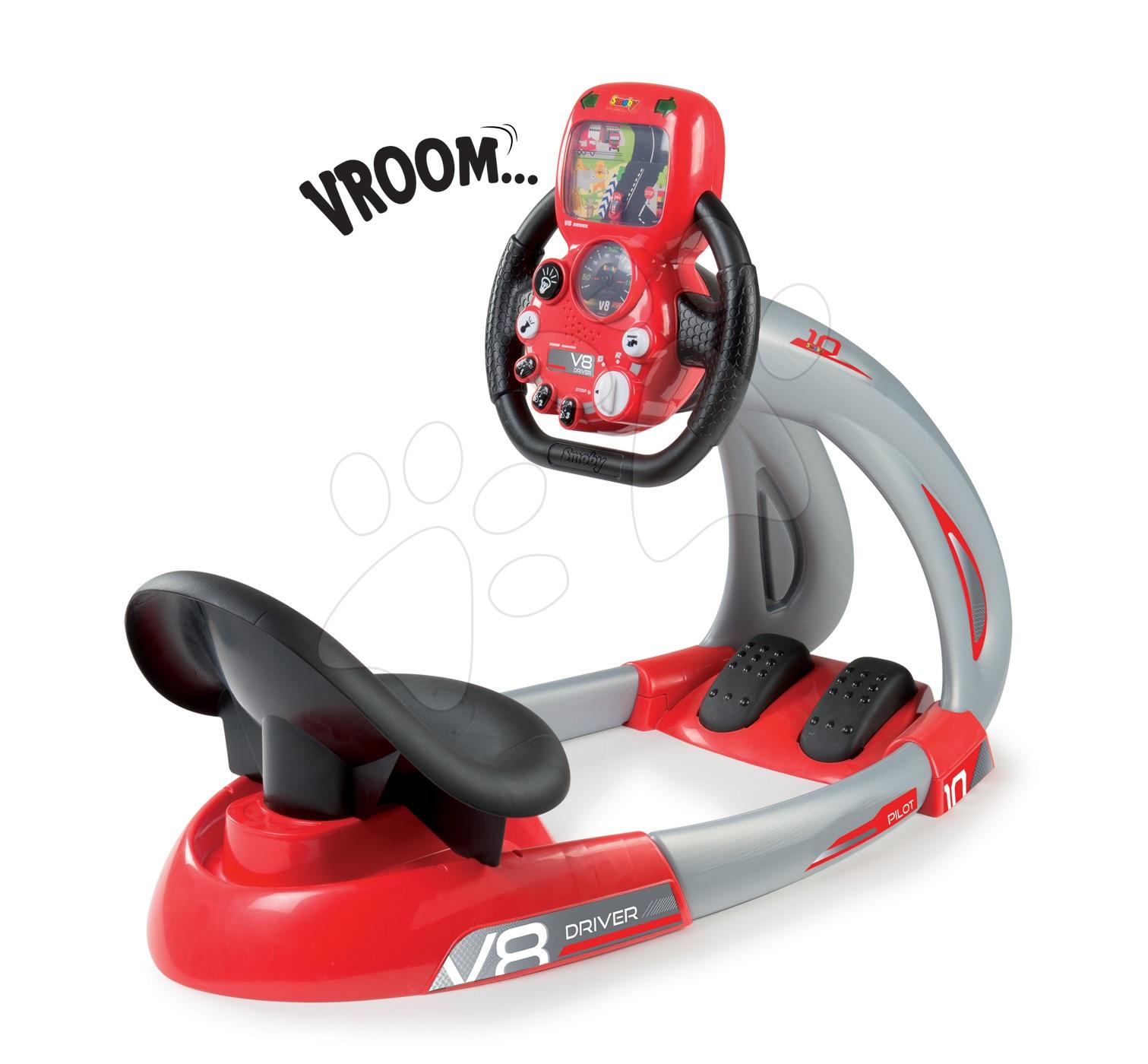 Simulator za djecu - Simulator V8 Driver Smoby električni sa zvukom i svjetlom