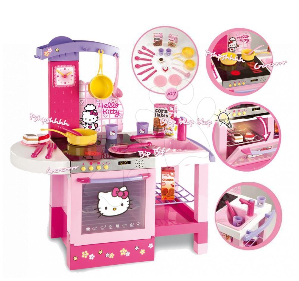 Játékkonyha Hello Kitty Smoby elektromos