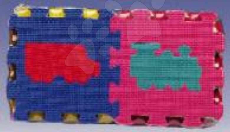 Pěnové puzzle - Pěnové puzzle Vehicles Lee 10 dílů 15*15*1,2 cm