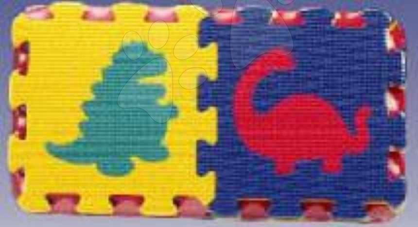 Pěnové puzzle - Pěnové puzzle Dinosaury 2 Lee 16 dílů 15*15*1,2 cm