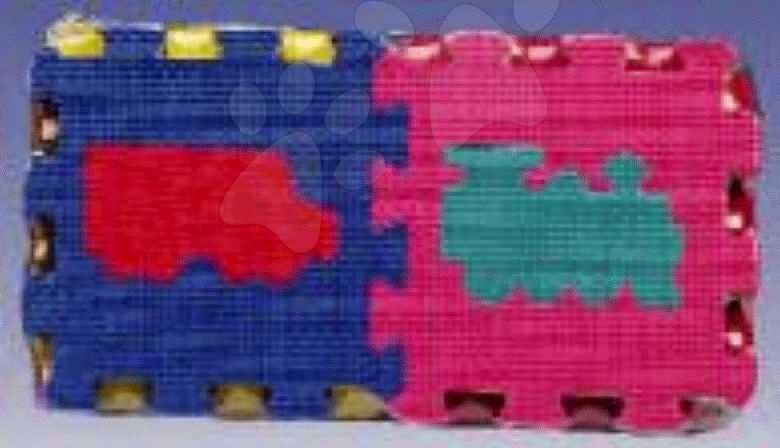 Puzzle din burete Trenuri Lee Chyun 6 bucăţi 15*15*1,2 cm