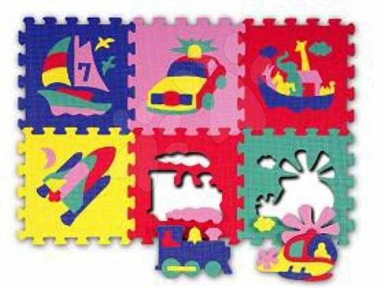 Staré položky - Puzzle Vehicles - Auta Lee Chyun 30*30*1,4 cm čtverce