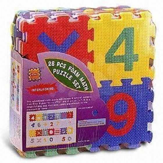Pěnové puzzle Čísla a znaky Lee 28 dílů 15*15*1,4 cm