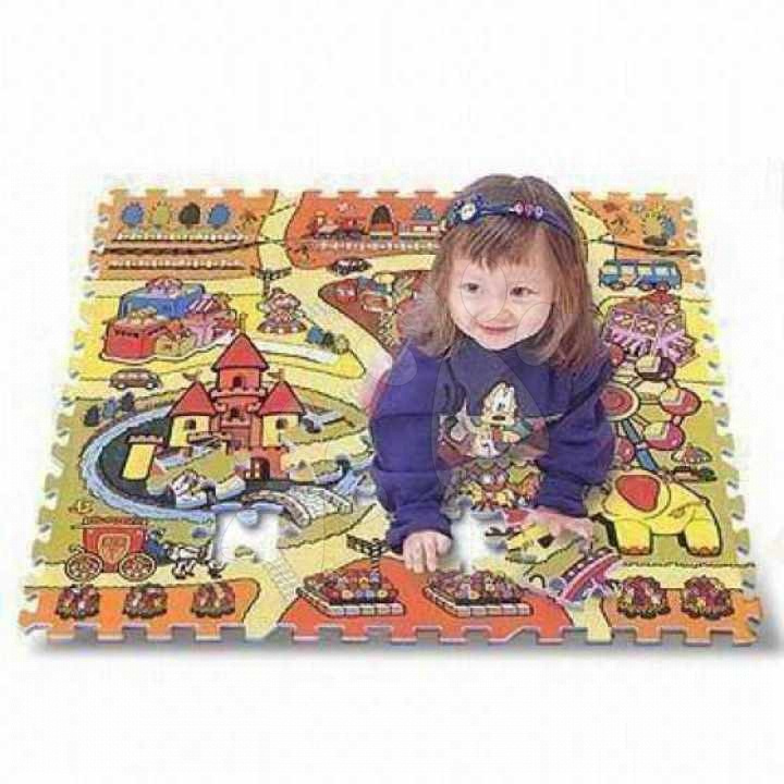 Pěnové puzzle - Pěnové puzzle Toy Land Svět hraček Lee Chyun 81 dílů