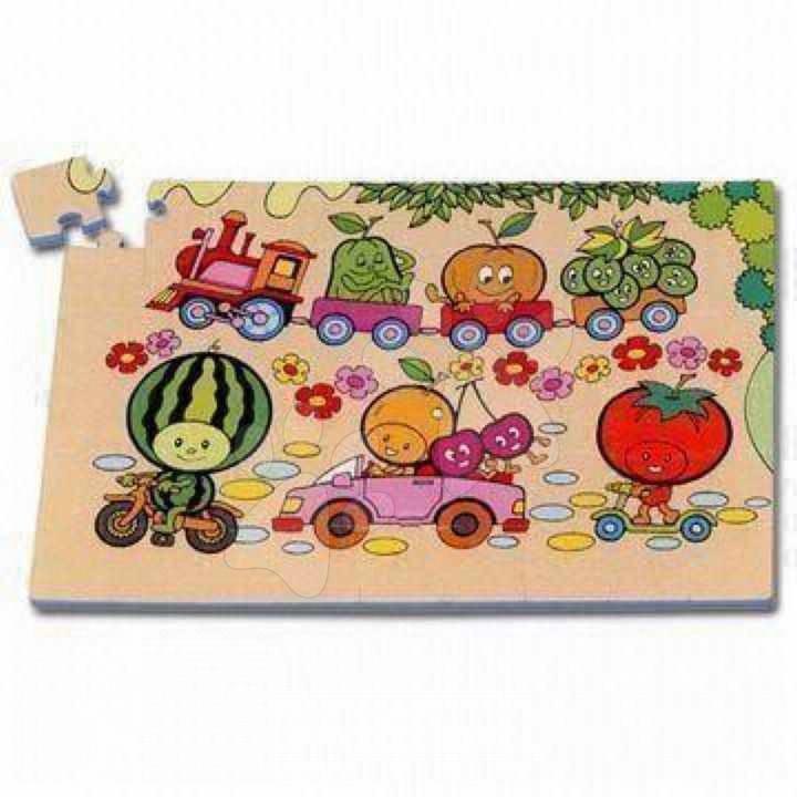 Pěnové puzzle Fruit Lee Chyun 54 ks