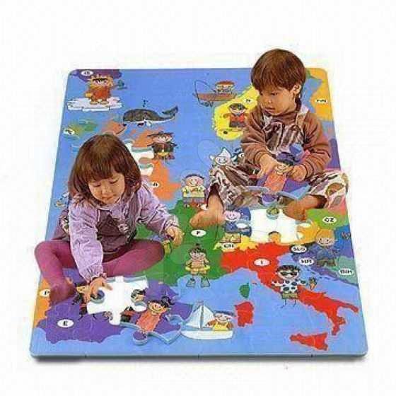 Pěnové puzzle Mapa Evropy Lee Chyun 54 dílů