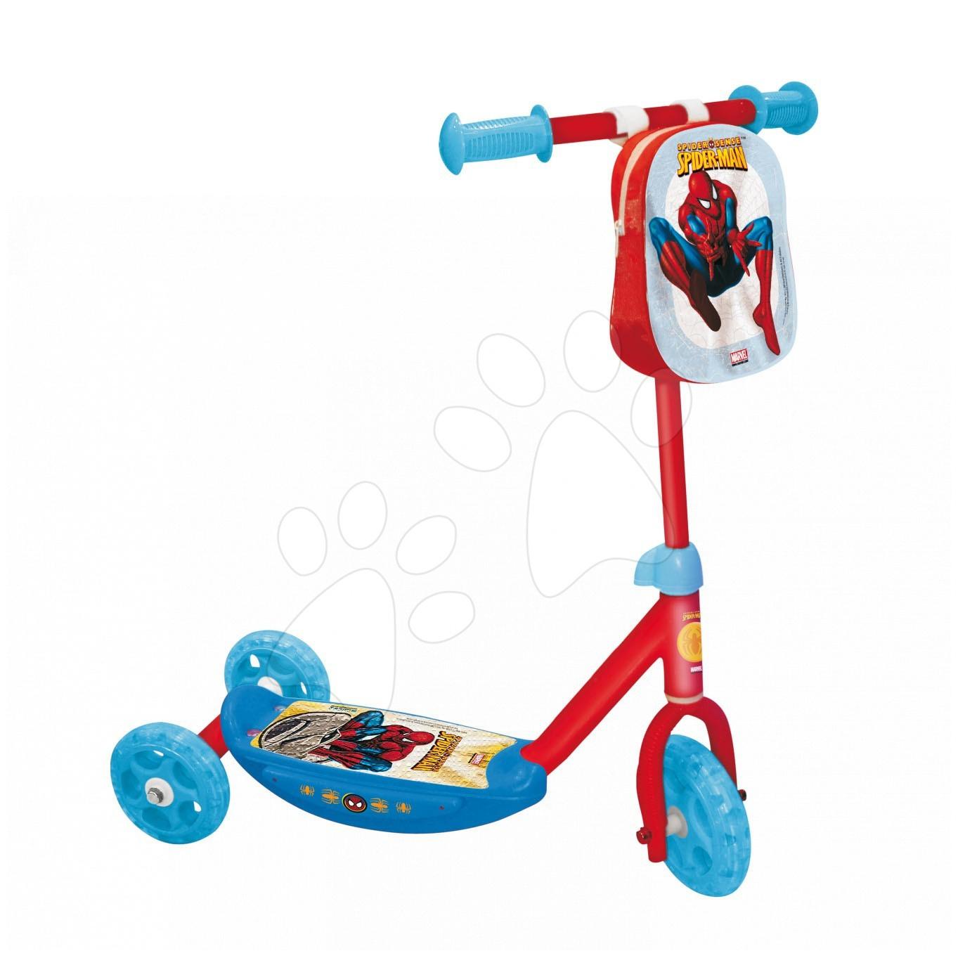 Koloběžka Spiderman Mondo tříkolová s taškou